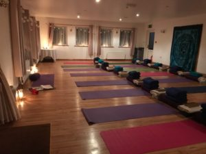 Room ready for yoga