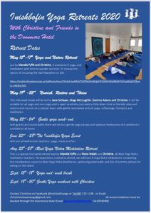 Inishbofin Yoga Retreats Schedule 2020