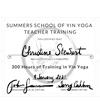 Christine Stewart Yoga Certificate